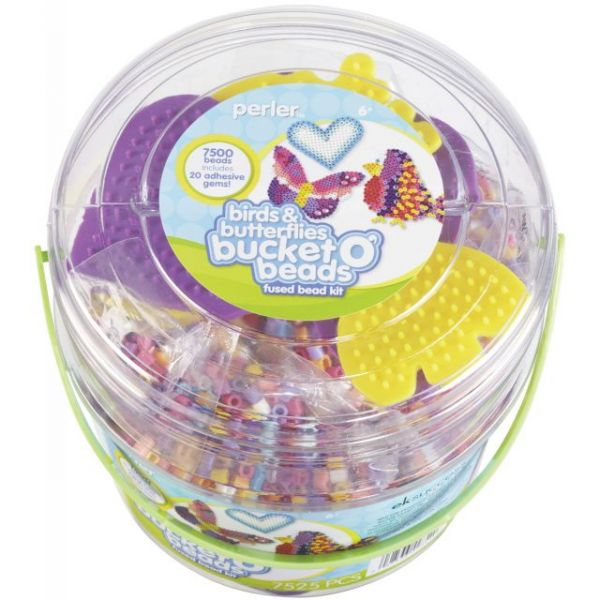Perler Birds & Butterflies Bucket O' Beads Fun Fusion Bead Kit