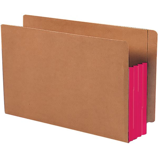 Smead TUFF Pocket End Tab File Pockets with Colored Gussets