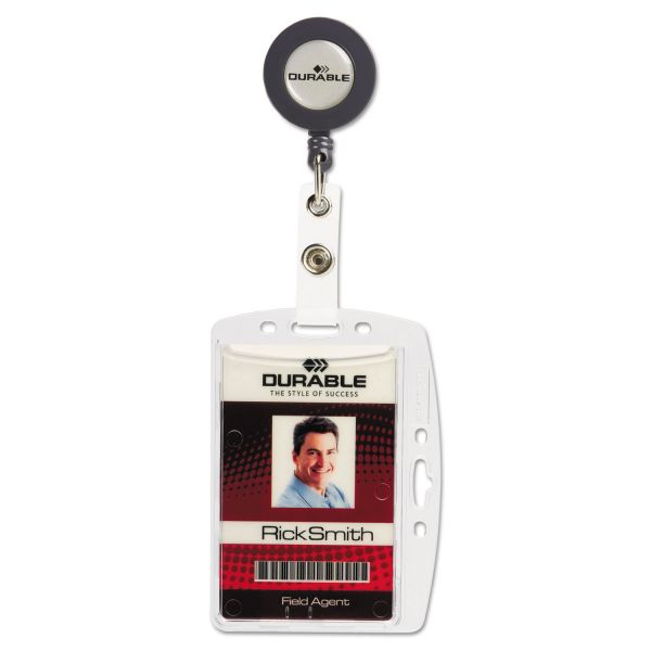 Durable Shell-Style Vertical/Horizontal ID Card Holders