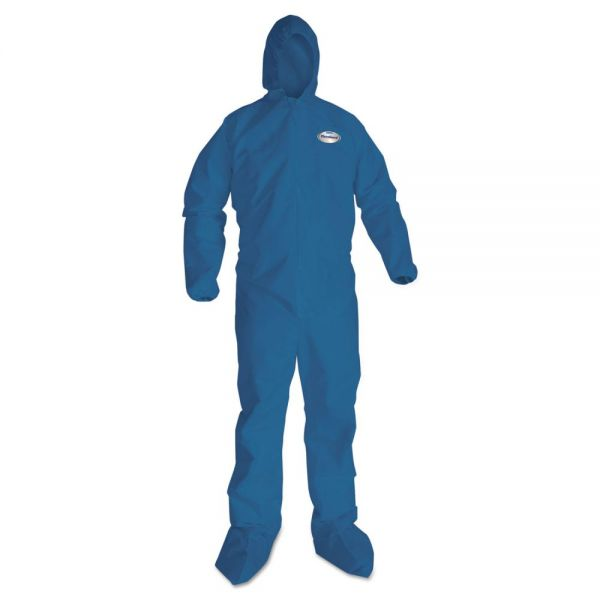KleenGuard* A20 Breathable Particle Protection Coveralls, X-Large, Blue, 24/Carton