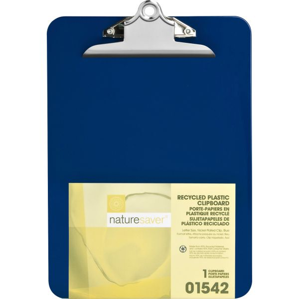 Nature Saver Recycled Blue Plastic Clipboard