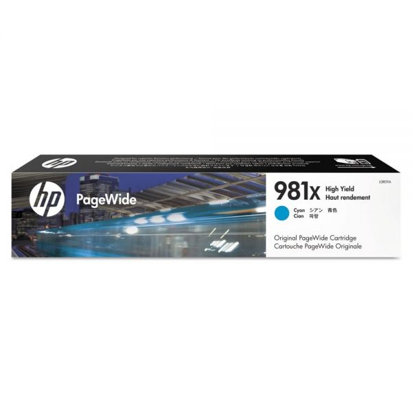 HP 981X High-Yield Cyan Ink Cartridge (L0R09A)