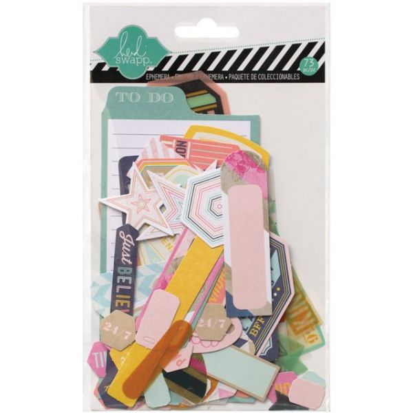 Heidi Swapp Mixed Media Ephemera Die-Cuts 73/Pkg