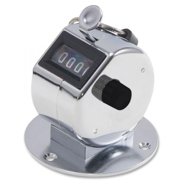 GBC Tally ii desk model tally counter, registers 0-9999, chrome