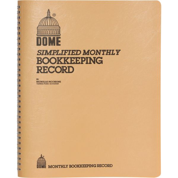 Dome Publishing Simple Monthly Accounting Book