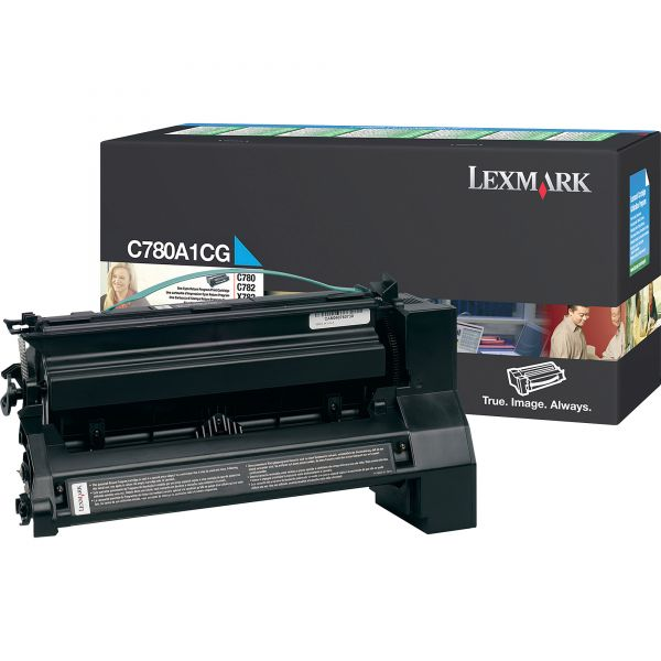 Lexmark C780A1CG Cyan Return Program Toner Cartridge
