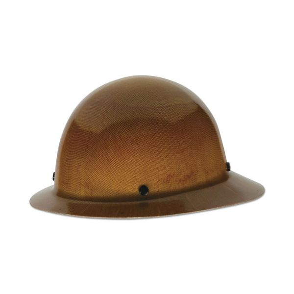 MSA Skullgard Protective Hard Hats, Staz-On Pin-Lock Suspension, Lamp Bracket, Tan