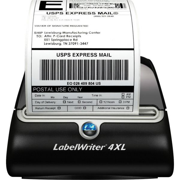 """DYMO LabelWriter 4XL, 4 4/25"""" Labels, 53 Labels/Minute, 7 3/10w x 7 4/5d x 5 1/2h"""