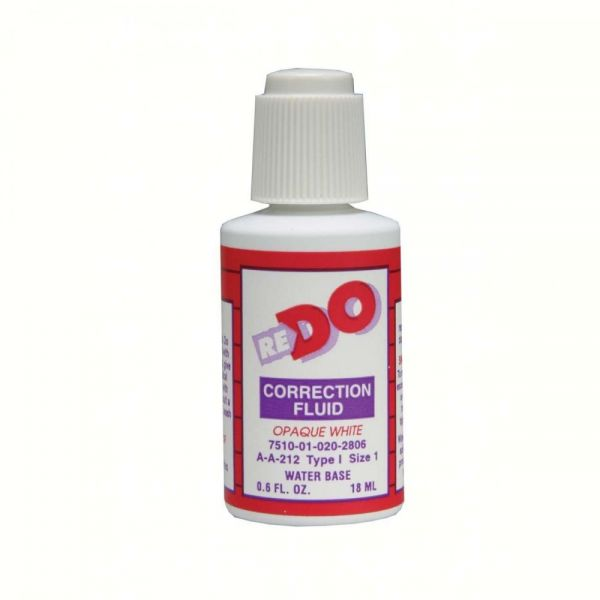 Re-Do Water Base Correction Fluid
