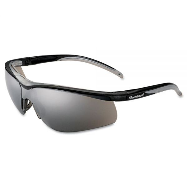 KleenGuard* V40 Contour Eye Protection, Black Frame/Silver Mirror Lens
