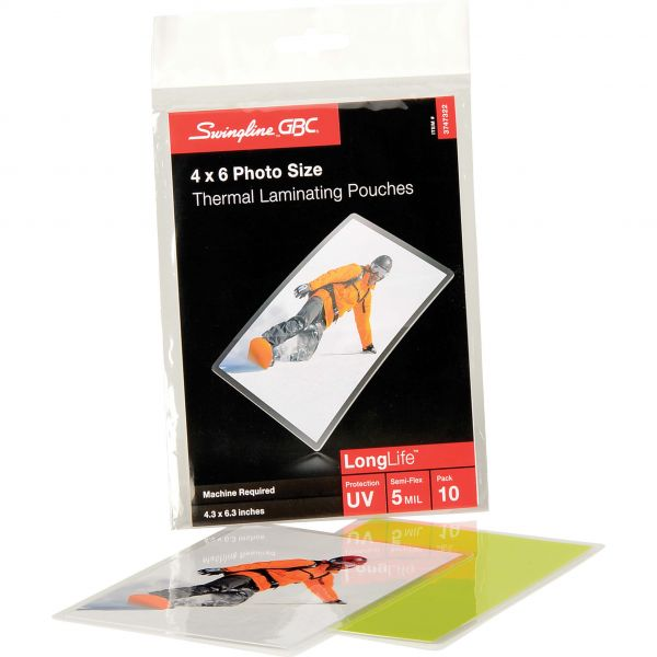 GBC HeatSeal LongLife Photo-Size Laminating Pouches
