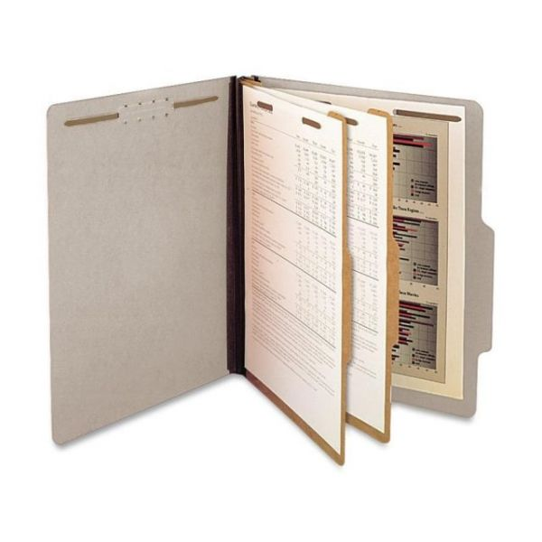 SJ Paper Gray Pressboard Classification Folders