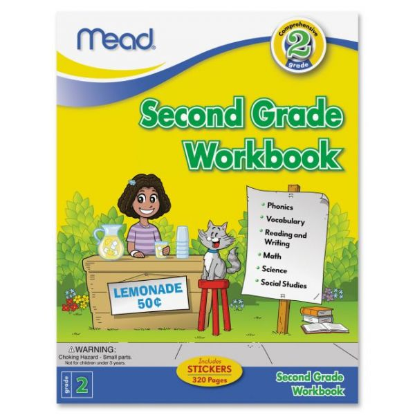 Mead Second Grade Comprehensive Workbook Education Printed Book