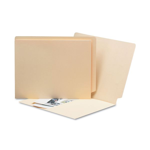 Smead Letter Size End Tab Pocket File Folders with Antimicrobial Product Protection