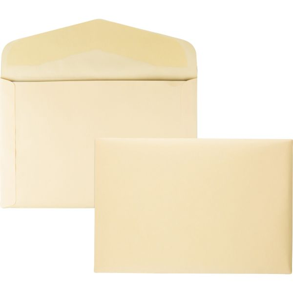 Quality Park Open Side Booklet Envelope, 15 x 10, Cameo Buff, 100/Box