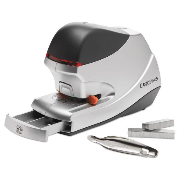 Swingline Optima 45 Electric Stapler, 45-Sheet Capacity, Silver