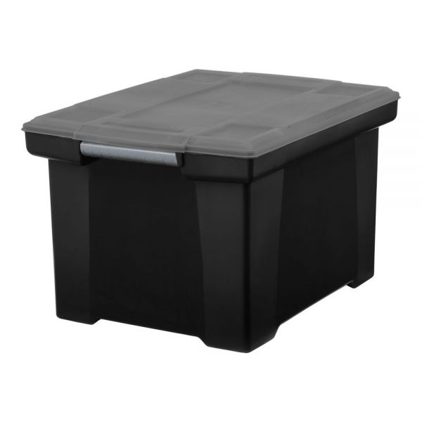 Storex Storage File Tote with Comfort Grips