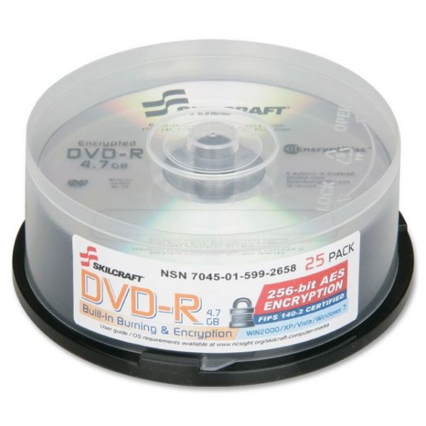 SKILCRAFT Recordable DVD Media