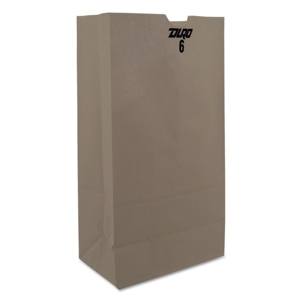 General 6# White Paper Grocery Bags