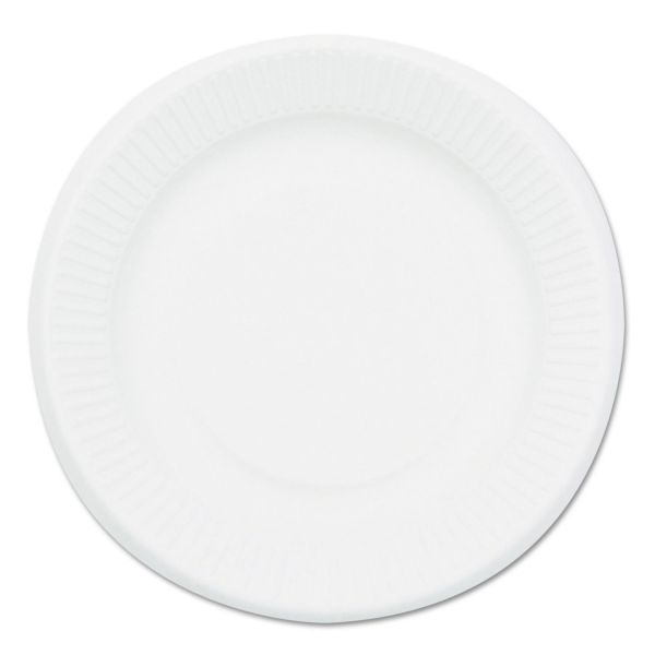 NatureHouse Compostable Sugarcane Bagasse 7 in Plate, Round, White, 1,000/Carton