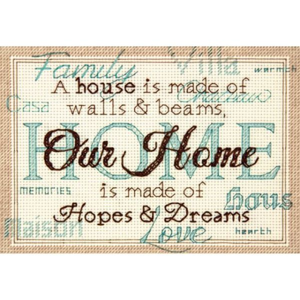 Home Mini Counted Cross Stitch Kit