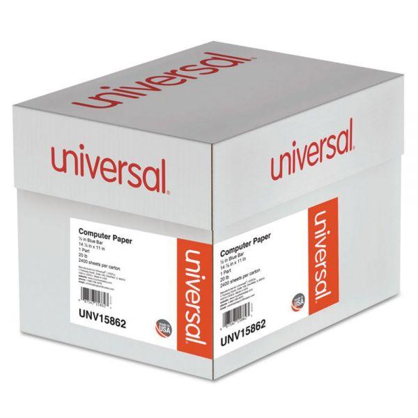 Universal Blue Bar Computer Paper