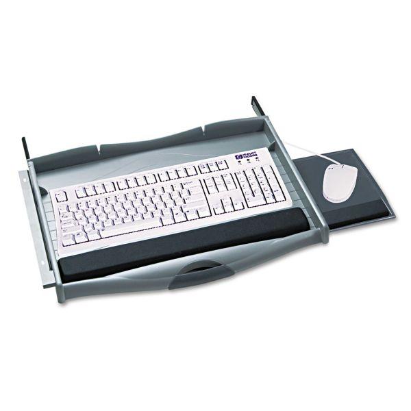 Safco Ergo-Comfort Premium Underdesk Keyboard Drawer, 21-3/4 x 13-1/4, Charcoal