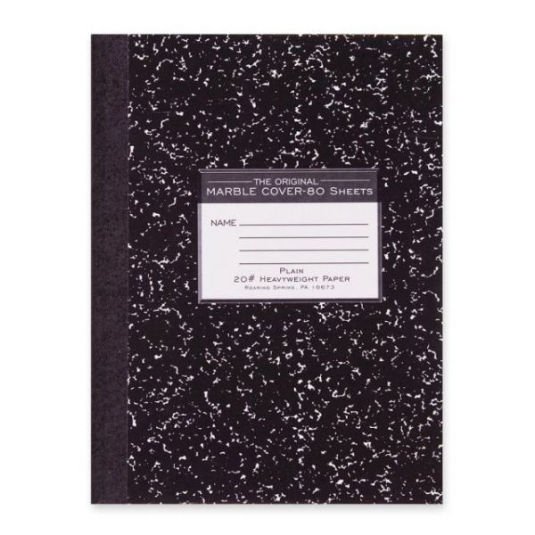 Roaring Spring Marble Plain Paper Composition Book