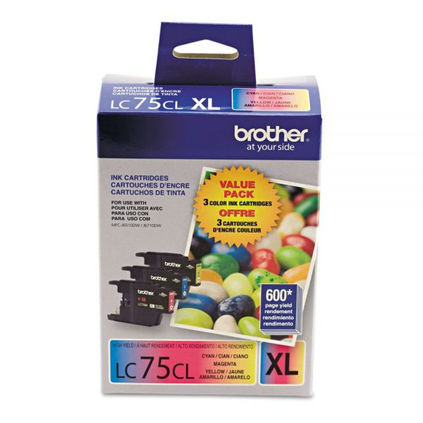 Brother LC753PKS Innobella High-Yield Ink, Cyan/Magenta/Yellow, 3/PK