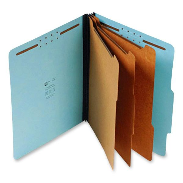 SJ Paper Blue Pressboard Classification Folders