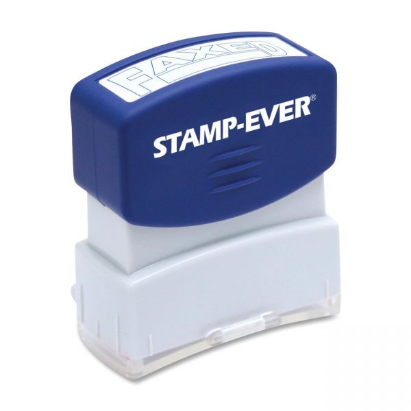 Stamp-Ever Pre-inked Blue Faxed Stamp