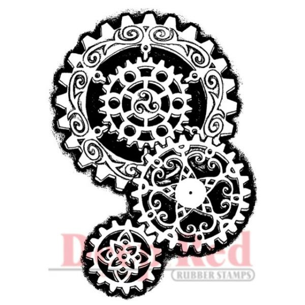 """Deep Red Cling Stamp 2""""X3"""""""