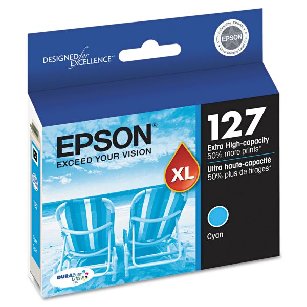 Epson 127 Cyan Extra High-Capacity Ink Cartridge (T127220)