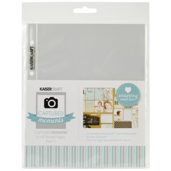 "Captured Moments Pocket Pages 6""X8"" 10/Pkg"
