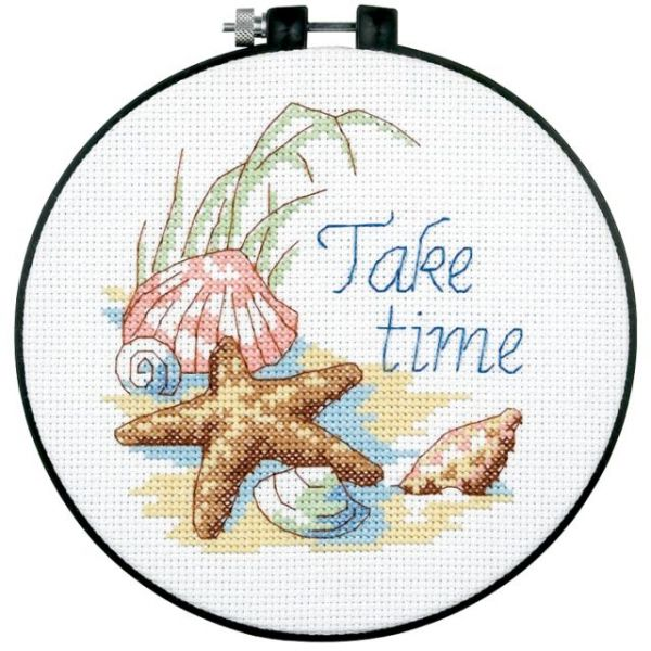 Dimensions Learn-A-Craft Take Time Counted Cross Stitch Kit