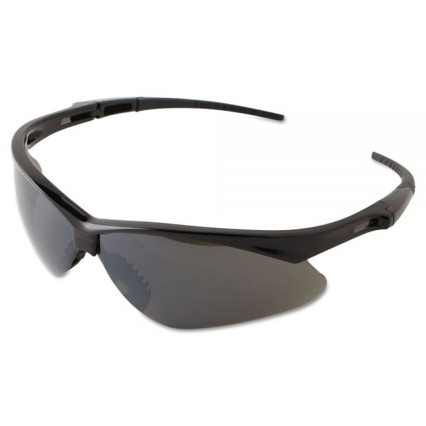 Jackson Safety* V30 NEMESIS Safety Eyewear, Black Frame, Smoke Mirror Lens