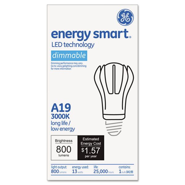 GE Soft White A-Line LED Light Bulb, A19, Soft White