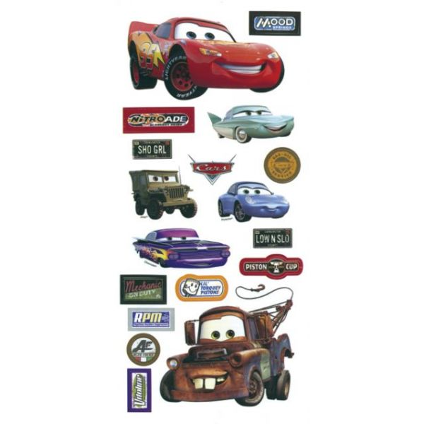 Disney Cars Stickers/Borders Packaged