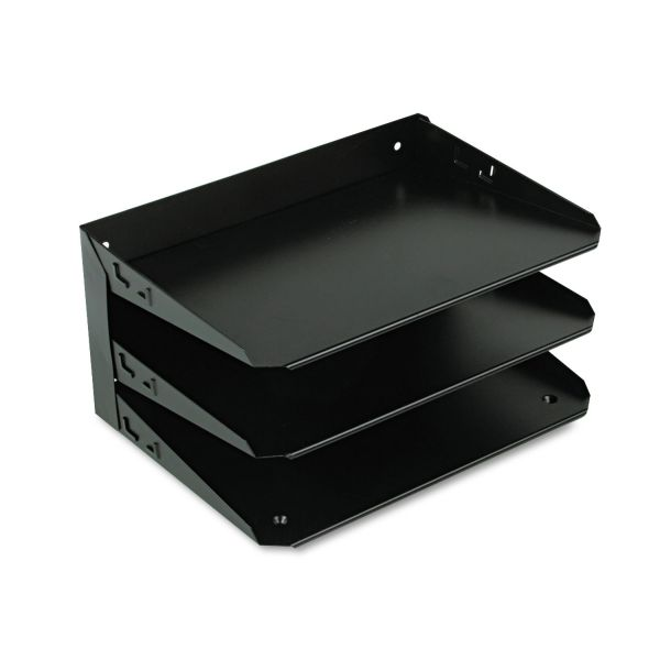 SteelMaster Steelmaster Multi-Tier Horizontal Letter Organizers, Three Tier, Steel, Black