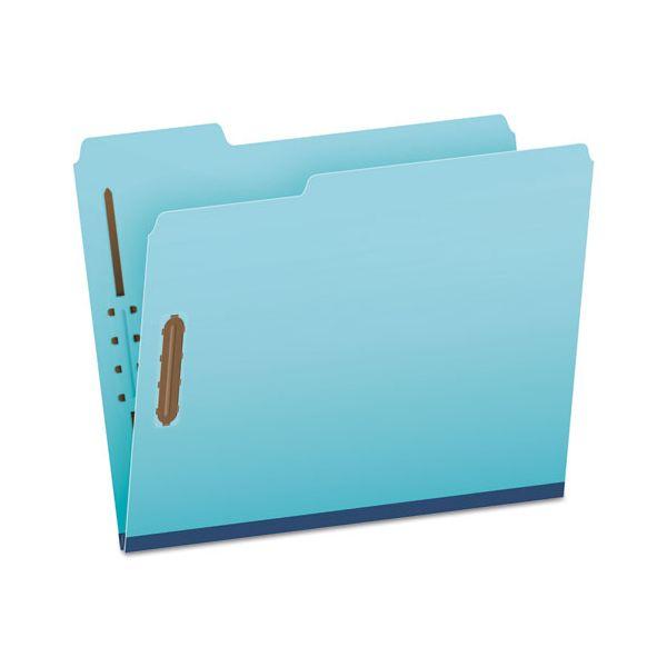 "Pendaflex Pressboard Folders, 2 Fasteners, 1"" Expansion, 1/3 Tab, Letter, Blue, 25/Box"