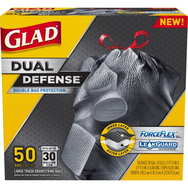 Glad ForceFlex Extra Strong 30 Gallon Trash Bags
