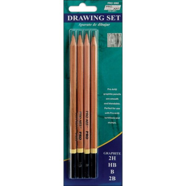 Pro Art Drawing Pencils 4/Pkg