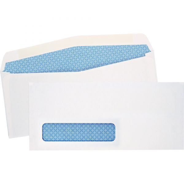 Quality Park Window Envelope, Address Window, #10, 4 1/8 x 9 1/2, White, 500/Box