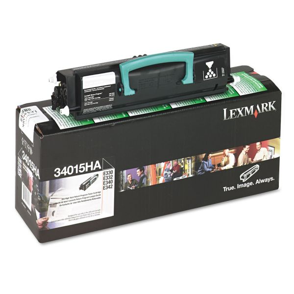 Lexmark 34015HA High-Yield Toner, 6000 Page-Yield, Black