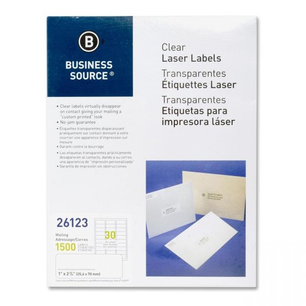 Business Source Clear Address Labels