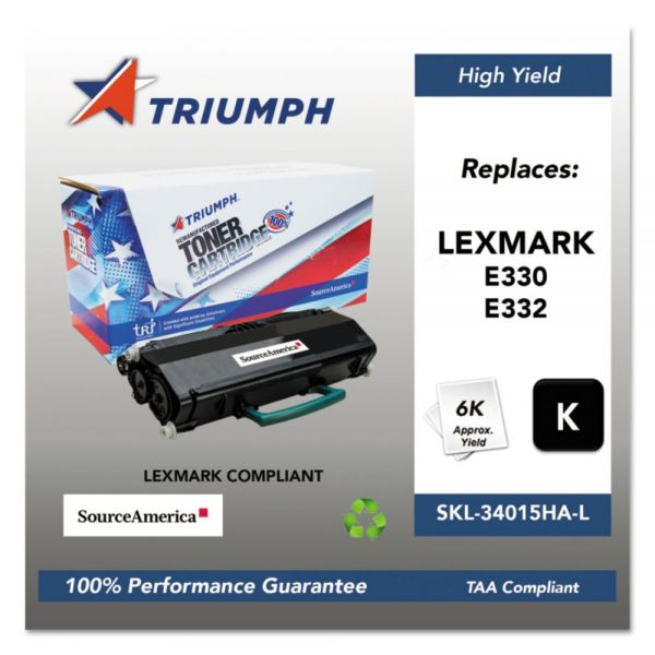 Triumph 751000NSH1006 Remanufactured 34015HA High-Yield Toner, Black
