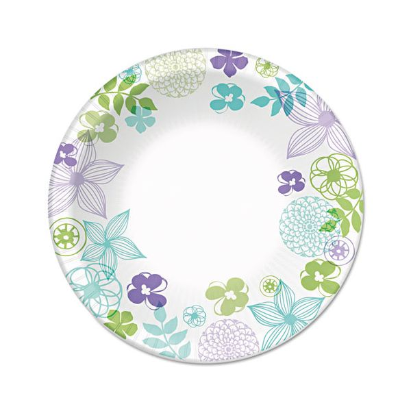 "Dixie Ultra Modern Romance Heavyweight 10"" Paper Plates"