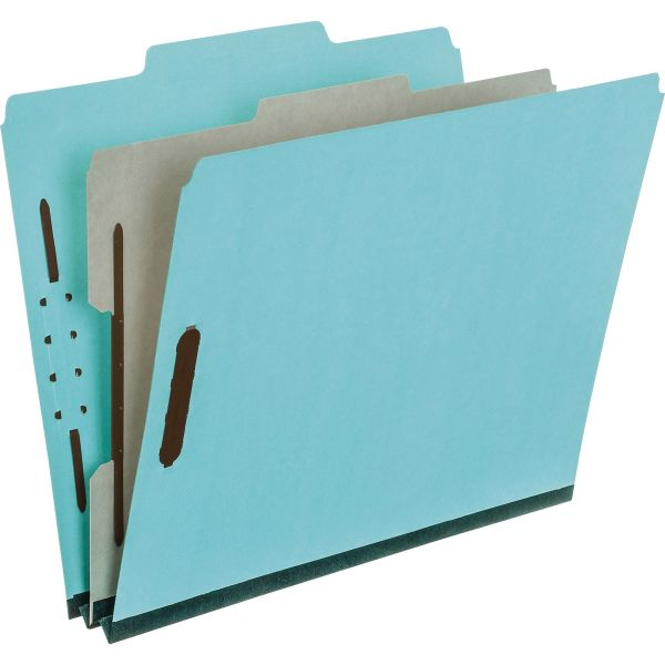 Pendaflex Four- and Six-Section Classification Folders, Letter, 2/5 Tab, , Blue, 10/Box