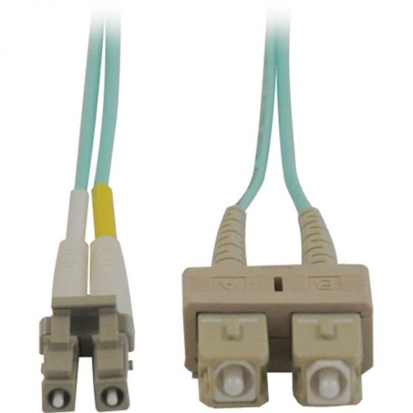 Tripp Lite 2M 10Gb Duplex Multimode 50/125 OM3 LSZH Fiber Optic Patch Cable LC/SC Aqua 6' 6ft 2 Meter