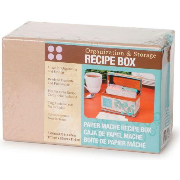 Paper-Mache Recipe Box